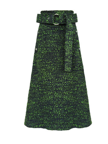 MOLLY,WOOL,SKIRT,Jamie Wei Huang, AW17, Autumn Winter, Wool, Skirt, MOLLY SKIRT, Moss Green, JWH, WINTER, AUTUMN, FALL, 2018, 2017