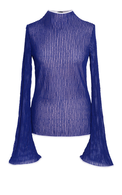 NEW IN STOCK - BLUE JERSEY TOP - product image