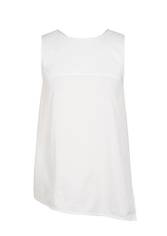 ALICE,CUT,OUT,VEST, white, cut out, vest, JWH, SPRING, SUMMER, 2018, ss18, Polyester, Spandex