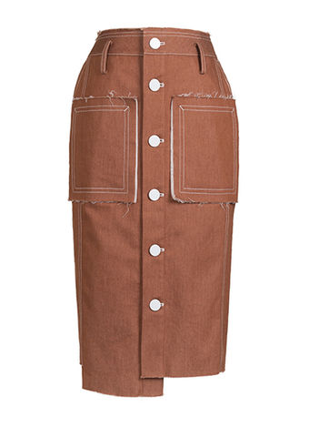NEW,IN,STOCK,-,TANJA,PENCIL,SKIRT,SS18, beige, denim, high-waist, pencil, skirt