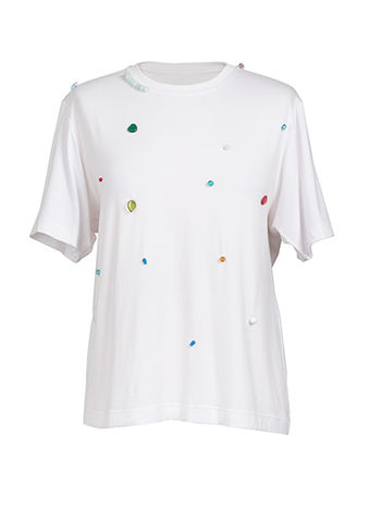 NEW,IN,STOCK,-,LOOSE,STONE,T-SHIRT,SS18, white, loose, stone, t-shirt