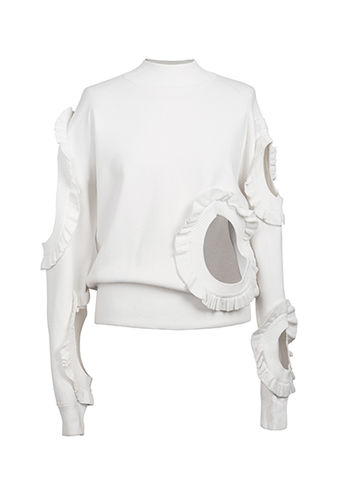 NEW,IN,STOCK,-ELSA,VISCOSE,JUMPER,white, viscose, jumper