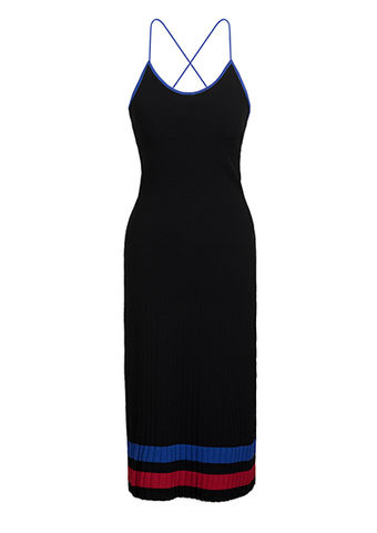 NEW,IN,STOCK,-,ELSA,SLIP,ON,DRESS,black, knitwear, viscose, long, dress