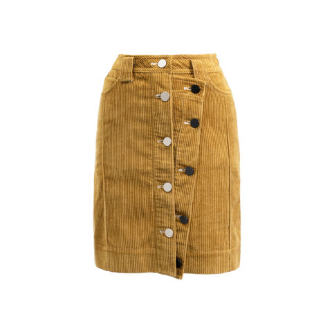 VIVIAN,MINI,OVERLAP,SKIRT,YELLOW, VIVIAN, MINI, OVERLAP, SKIRT, JWH, WINTER, AUTUMN, FALL, 2018, 2019, MUSTARD