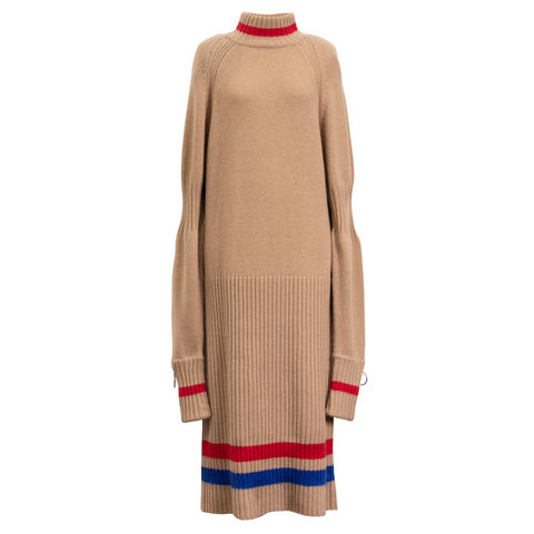 NEW,IN,STOCK-,ZACK,DRESS,BEIGE, CASHMERE
