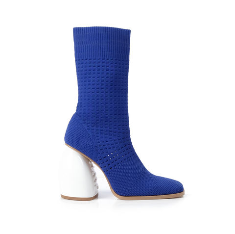 NICOLE,ANKLE,BOOTS, ANKLE, BOOTS, BLUE, KNIT, SS19, SPRING, SUMMER, 2019