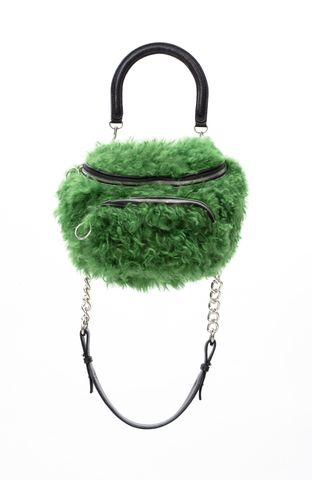 PRE,ORDER,-,POMPOM,CROSS,SHOULDER,BAG,AW20, CROSS SHOULDER BAG, BAG, GREEN