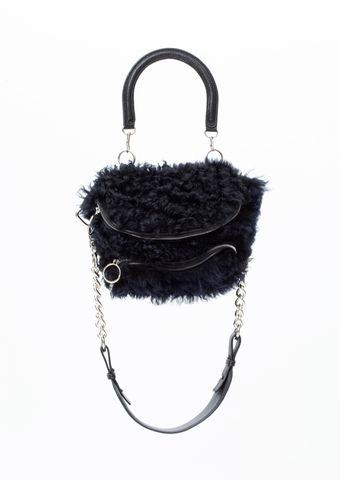 PRE,ORDER,-,POMPOM,CROSS,SHOULDER,BAG,AW20, CROSS SHOULDER BAG, BAG, BLACK