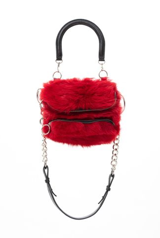 PRE,ORDER,-,POMPOM,CROSS,SHOULDER,BAG,AW20, CROSS SHOULDER BAG, BAG, RED
