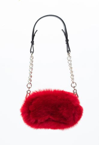 PRE,ORDER,-,MINI,POMPOM,CROSS,SHOULDER,BAG,AW20, CROSS SHOULDER BAG, BAG, RED, MINI