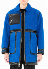 PRE ORDER - ADEN REVERSIBLE FUX LEATHER COAT - product images 4 of 13