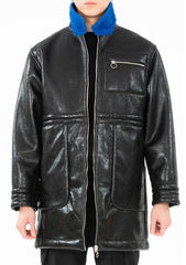 PRE ORDER - ADEN REVERSIBLE FUX LEATHER COAT - product images 7 of 13