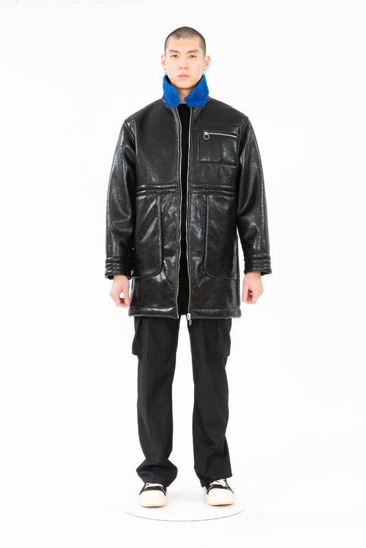 PRE ORDER - ADEN REVERSIBLE FUX LEATHER COAT - product image