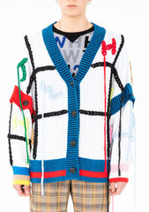 PRE ORDER - FANG HAND EMBROIDERY CARDIGAN - product images 3 of 12