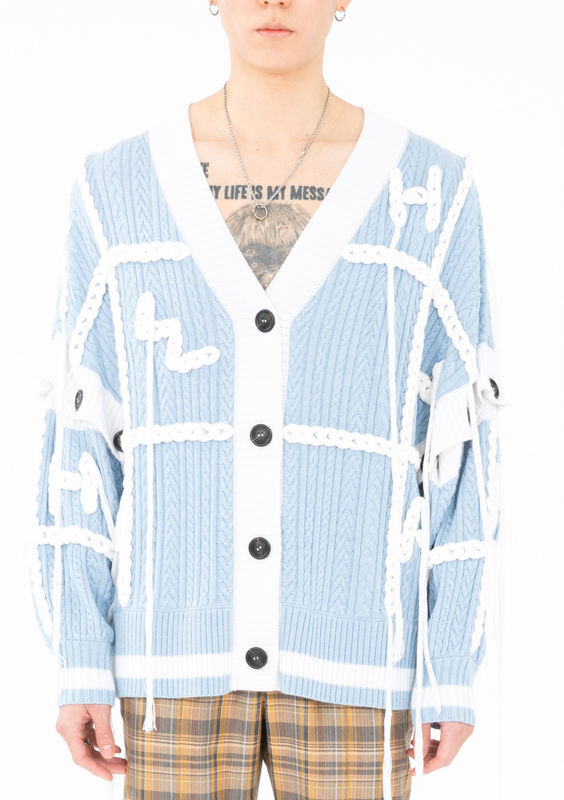 PRE ORDER - FANG HAND EMBROIDERY CARDIGAN - product image