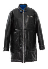 PRE ORDER - ADEN REVERSIBLE FUX LEATHER COAT - product images 8 of 13