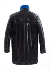 PRE ORDER - ADEN REVERSIBLE FUX LEATHER COAT - product images 9 of 13