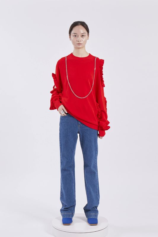 PRE ORDER - ELSA RUFFLE JUMPER WITH CHAIN - product image