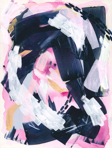 Brave,New,Path,Art,Print,,Pink,and,Navy,Blue,Abstract,Wall,Poster,,Feminine,poster print, feminine art, fine art poster, pink and blue art, fine art print