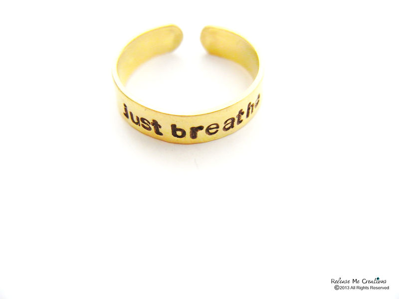 Just Breathe Meditate Ring - product image