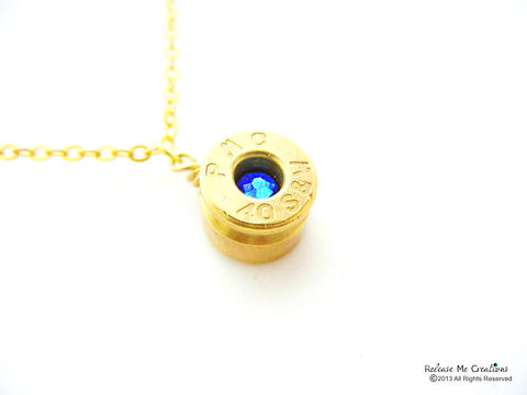 Smith,&,Wesson,Swarovski,Bullet,Pendant,Birthstone,bullet necklace, for her, swarovski, bullet jewelry, nra, military, gift, army, marine