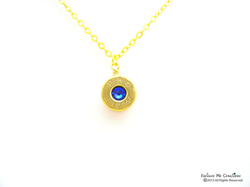 Smith & Wesson Swarovski Bullet Pendant Birthstone - product image