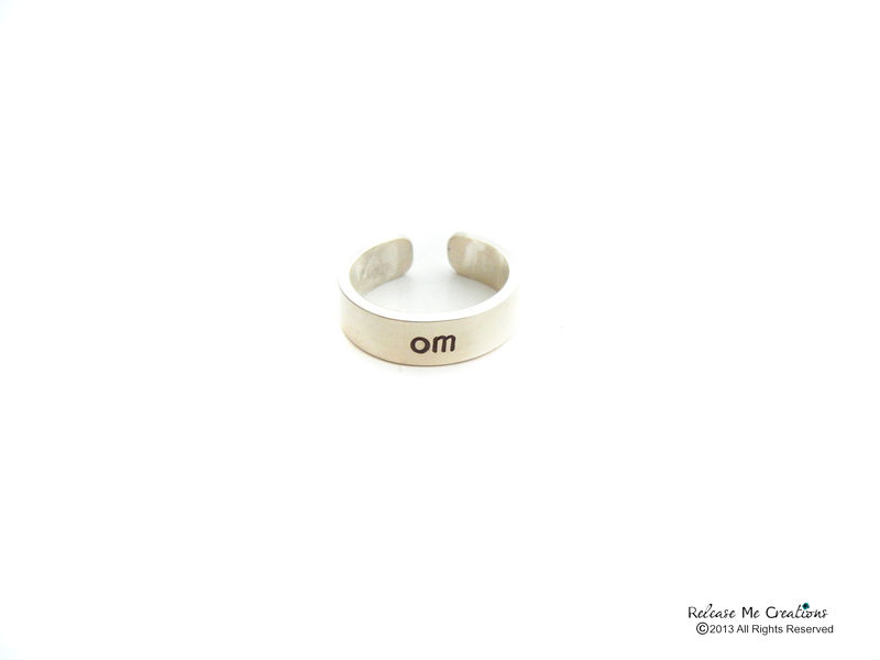 Sterling Silver Meditate Om Ring - product image