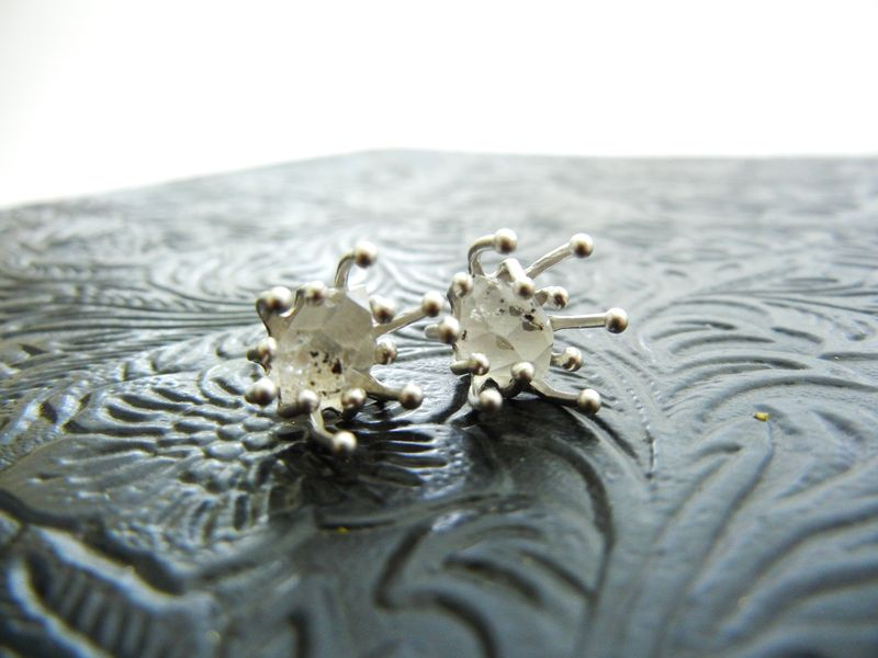 Herkimer Diamond Supernova Sterling Silver Post Earrings - product image