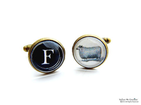 Eff,Ewe,Cuff,Links,for,Him,for him, cuff link, husband, brother, father, funny, FU, groom gift, groomsmen gift, wedding