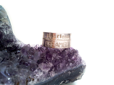 Fearless,Dreamer,Sterling,Silver,Ring,Set,gift, fearless, dreamer, set, ring, sterling silver, for her