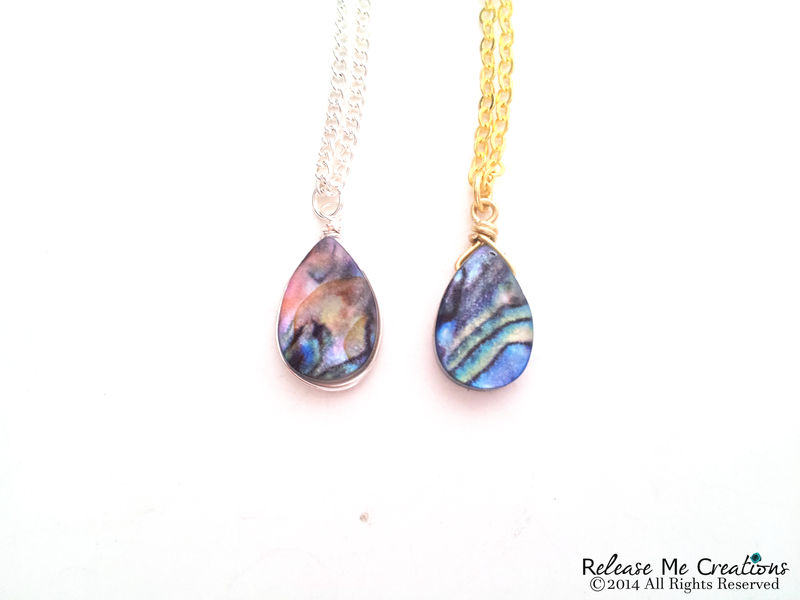 Blue Abalone Necklace - product image