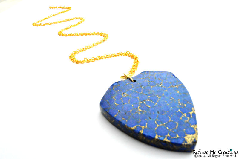 Lapis Lazuli Shield Necklace - product image