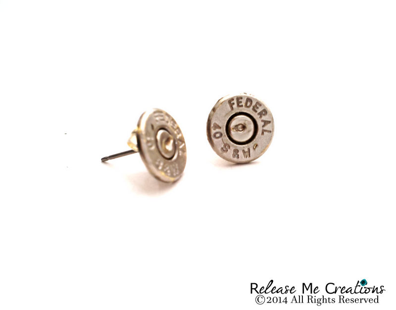 Silver Bullet Stud Earrings - product image