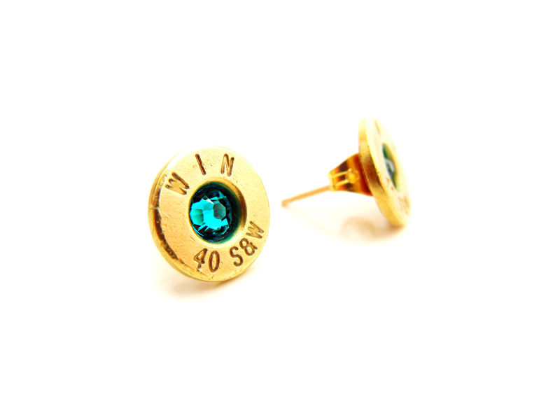 Bullet Birthstone Stud Earrings - product image
