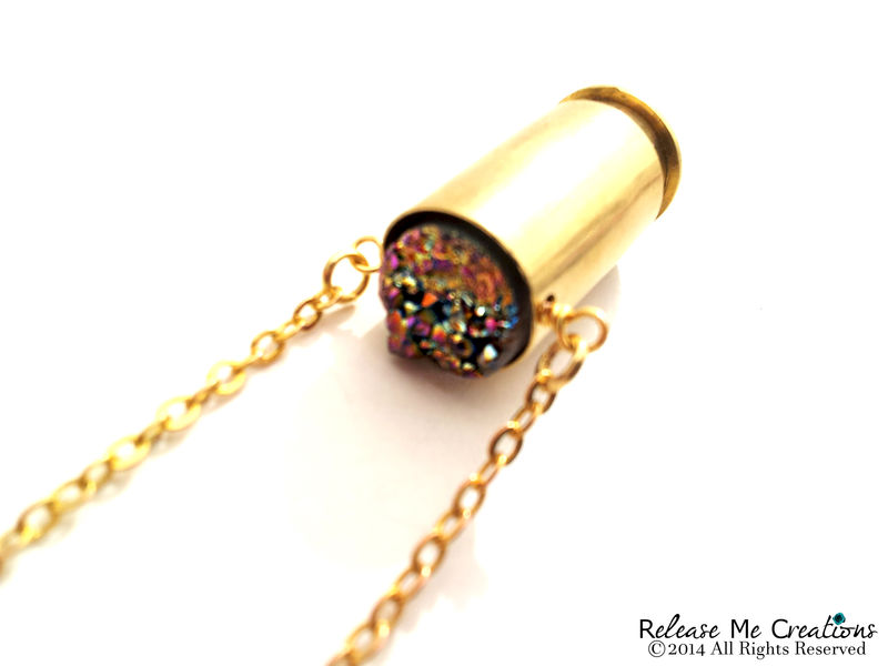 Druzy Sunrise Bullet Necklace - product image