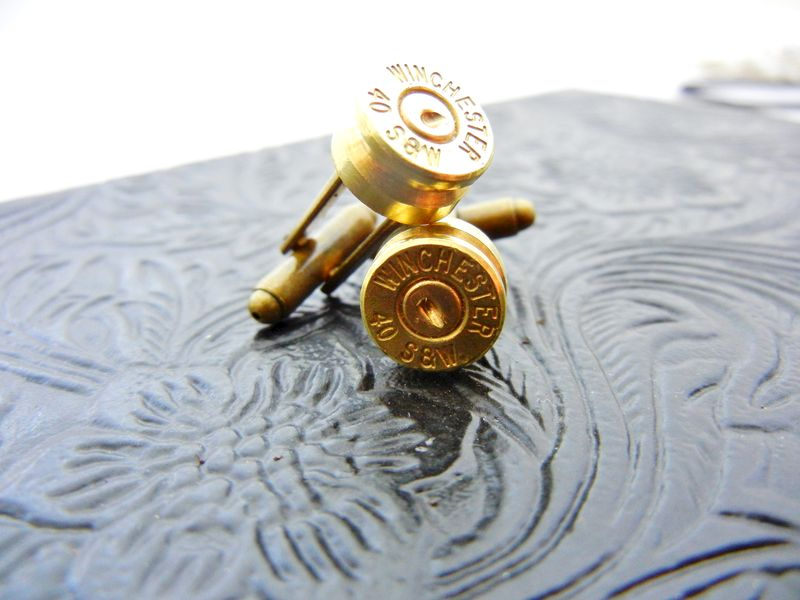 Winchester Smith & Wesson Bullet Cuff Links - product image