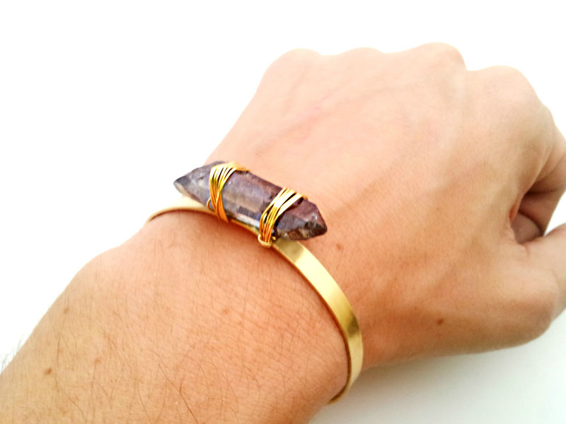 Limited Edition Amethyst Aura Gold Cuff - product image