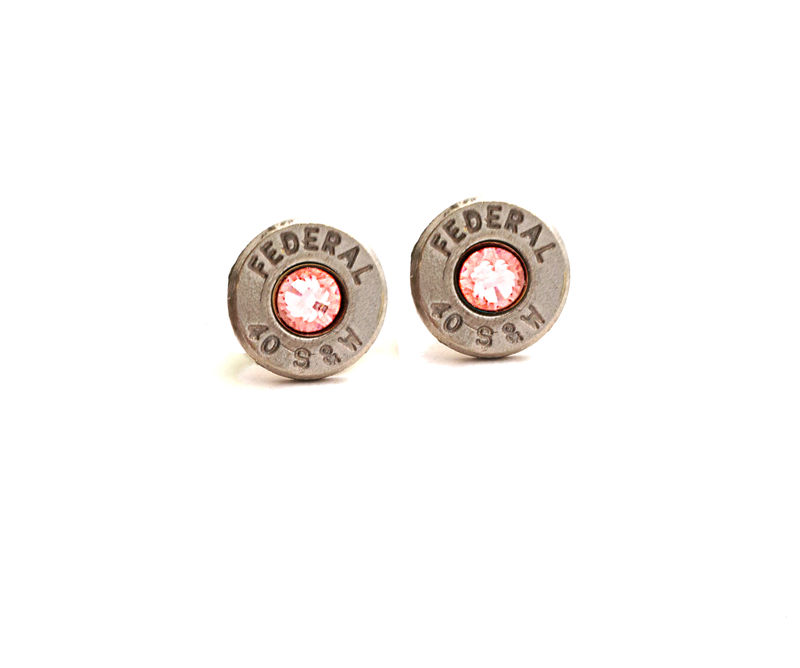 Silver Bullet Birthstone Stud Earrings - product image