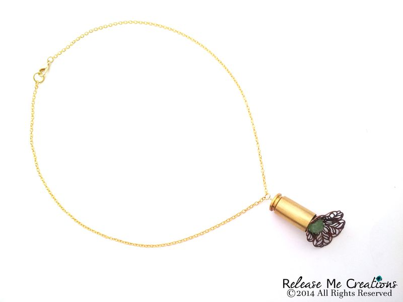Blooming Chalcedony Bullet Necklace - product image