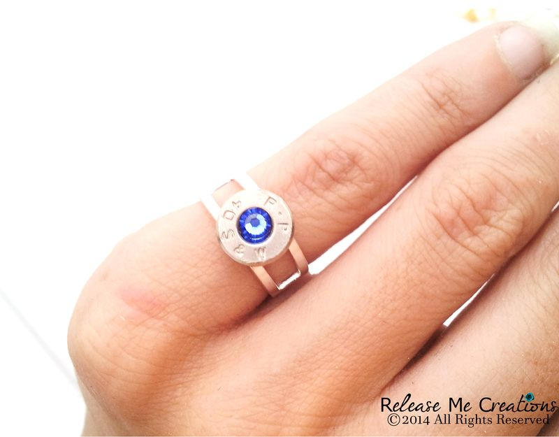 Silver Bullet Smith & Wesson Birthstone Ring - product images