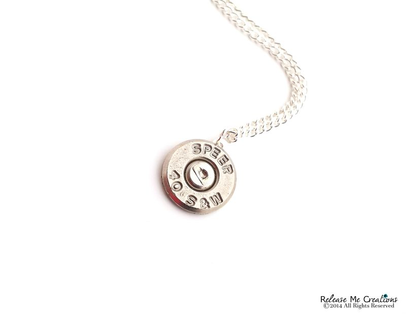 Silver Smith & Wesson Bullet Necklace - product image