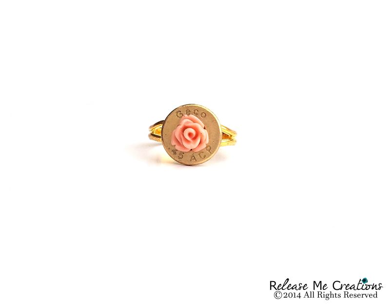 Blooming Rose Gold Bullet Ring - product image