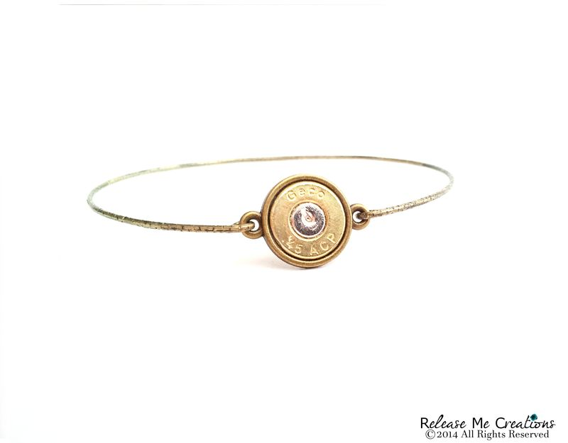 Smith & Wesson Bullet Brass Bangle Bracelet - product image