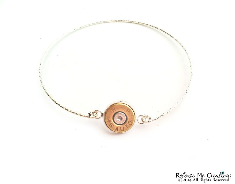Smith & Wesson Bullet Silver Bangle Bracelet - product image
