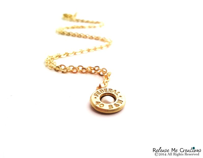 Pearl Gold Bullet Necklace - product image