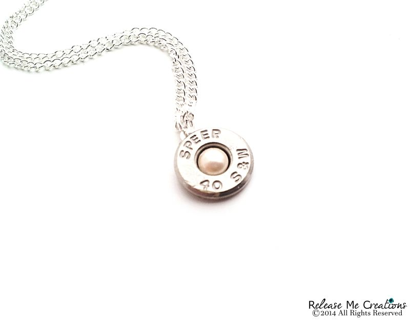 Pearl Silver Bullet Necklace Smith & Wesson - product image
