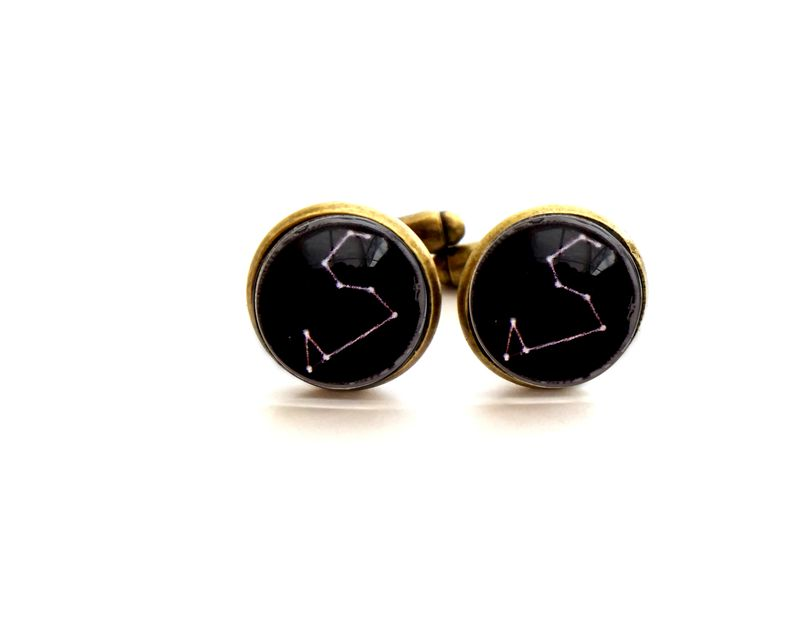Mens Constellation Zodiac Cufflinks - product image