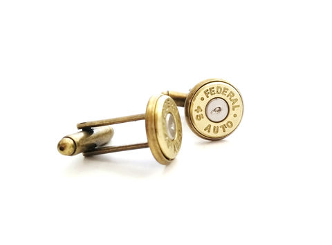 Mens,Streamlined,45Cal,Bullet,Cufflinks,Silver,Antiqued,Brass,Military,Police,Security,Hunter,Outdoors,Country,Cowboy,bullet, cufflinks, 45 caliber, winchester, smith & wesson, for him, groom, groomsmen, wedding, gift