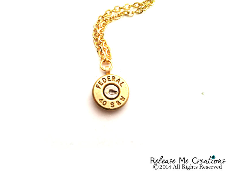 Custom Listing: Bullet Necklace & Cufflinks Federal Winchester Customer Provided Casings - product image