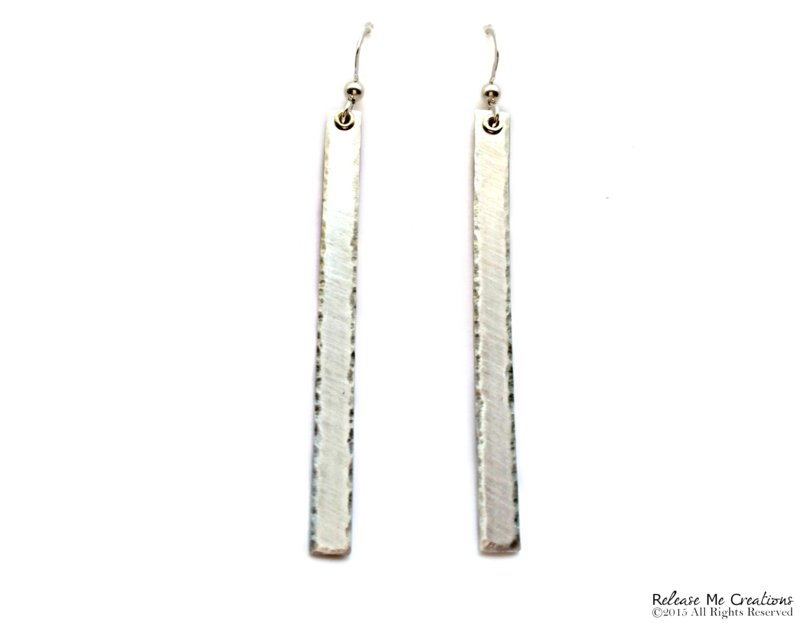 Sterling Silver Tower Earrings  - product image